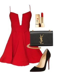 Bar outfit, Night out outfit YSL louboutin insipiration