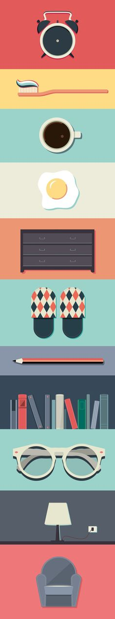 Day #1 by Valentina Ferioli, via Behance | az.BlockColors/Grads/Texte…