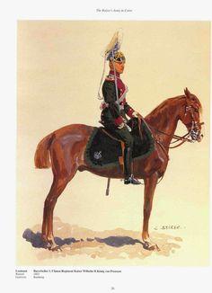 """Royaume de Bavière - 1° régiment de Uhlans """"empereur Guillaume II, roi de Prusse"""""""
