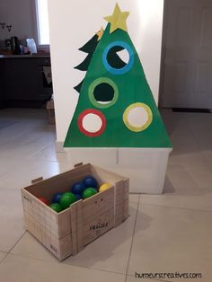 Christmas game for children, throw the balls into the holes in the tree, color sorting, child christmas activity, Christmas tree game Christmas Tree Game, Christmas Games For Family, Christmas Star Decorations, Christmas Activities, Kids Christmas, Christmas Lights, Christmas Crafts, Baby Toys, Theme Noel