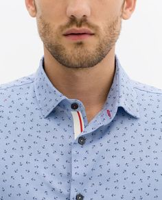 Image 5 of PRINTED OXFORD SHIRT from Zara Mens Printed Shirts, Polo T Shirts, Cool Shirts, Casual Shirts, Oxford Shirts, Zara Home, Urban Chic Fashion, Mens Designer Shirts, King Fashion