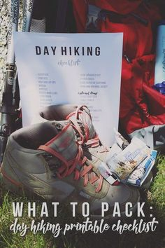 What to Pack: Day Hiking Printable Checklist - Hello Nature Hiking for the day? Be sure to check off this day hiking printable checklist before you go outdoors to make sure you bring all of the essentials! Hiking Tips, Camping And Hiking, Hiking Gear, Hiking Backpack, Outdoor Camping, Camping Hacks, Camping Guide, Family Camping, Family Travel