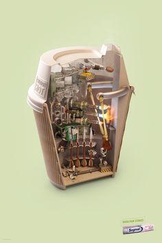 "jeremyben: ""Signal Sensitive Toothpaste - When Pain strikes Advertising Agency : Lowe, Singapore "" Creative Advertising, Ads Creative, Print Advertising, Advertising Campaign, Advertising Ideas, Creative Director, Crea Design, Ad Design, Exhibit Design"