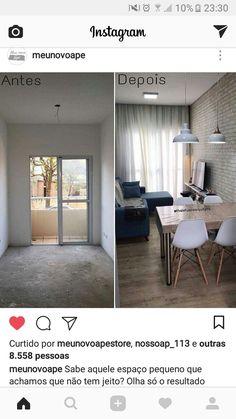 The Best 2019 Interior Design Trends - Interior Design Ideas Small Apartment Decorating, Apartment Design, Home Living Room, Interior Design Living Room, Small Apartments, Small Spaces, Narrow Living Room, Condo Living, Home And Deco