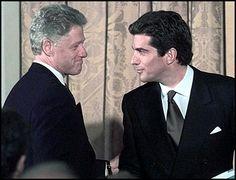 JFK Jr. and Bill Clinton