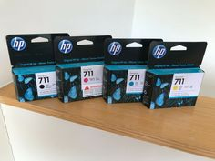 HP 711 Design Jet Bk/M/Y/C T520 Ink Cartridges CZ129A CZ130A CZ131A CZ133A #HP