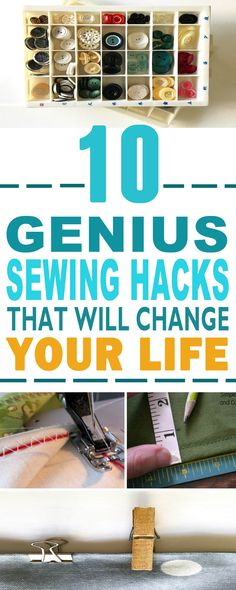 These are the BEST sewing hacks!! Glad to have found these amazing sewing hacks and tips that would make my life so much easier. Pinning for later!!