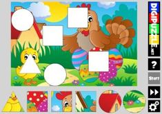 Easter Shape Puzzles | Digipuzzle.net Diy And Crafts, Paper Crafts, Easter Games, Shape Puzzles, Beautiful Pictures, Printables, Shapes, Kids, Infant Sensory