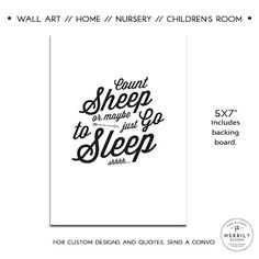 Count Sheep or Maybe Just go to Sleep Nursery by MERRILYDESIGNS