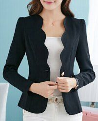 Cheap Blazers For Women | White And Black Blazers For Women Online At Wholesale Prices | Sammydress.com