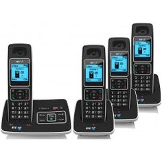 BT 6500 DIGITAL QUAD CORDLESS ANSWER PHONE WITH NUISANCE CALL BLOCKING