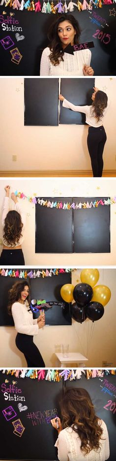 http://tipsalud.com Selfie Station | 20 + Last Minute New Years Eve Party Ideas