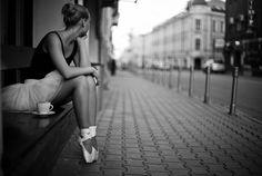 Ballet dancer in city