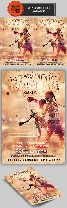 Boxing Flyer  — PSD Template • Only available here ➝…