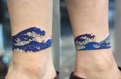 Cut wave tattoo by Zihee