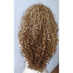 Halloween Special :)) Dirty blonde / honey blonde ombre wig. Long curly ombre colored blonde wig. Heat resistant Synthetic wig ($108) found on Polyvore