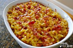 Quick and Easy Meals - Bacon Mac and Cheese - Mess for Less