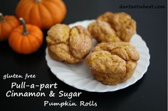 Gluten Free Pull-Apart Cinnamon & Sugar Pumpkin Rolls- so light and fluffy, seriously hard to believe they're gluten free!