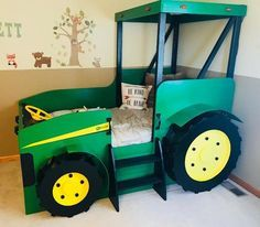 , Tractor Bed PLANS (pdf format), Create a Farm Themed Bedroom for your Child, Perfect for the DIY Woodworking Enthusiast , Tractor Bed PLANS pdf format Create a Farm Themed Bedroom John Deere Bedroom, Tractor Bedroom, Farm Bedroom, Boys Tractor Room, Tractor Toddler Bed, Boy Room, Kids Room, Woodworking Enthusiasts, Plan Toys