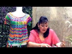 Blusa Ana tejida en gancho fácil y rápida - tejiendo con Laura Cepeda - YouTube