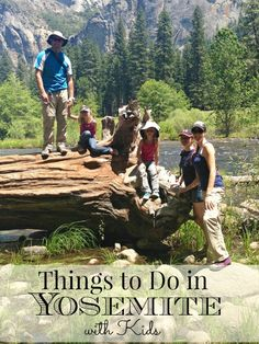Things to do in Yosemite with kids this Summer! We had a great time there river rafting, hiking, on a tour and just discovering the park.