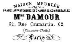 French Typography - Paris Apartment Sign - The Graphics Fairy