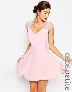 Image 1 ofASOS PETITE Kate Lace Mini Dress