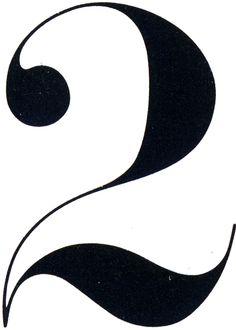 '2' – CBS Didot, 1962, detail