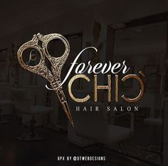 Logo designed for hair salon.