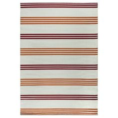 "Beachcrest Home Catalina Orange/Burgundy Indoor/Outdoor Area Rug Rug Size: 7'10"" x 10'10"""