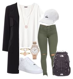 """Untitled #207"" by kingrabia on Polyvore featuring H&M, NIKE, Tommy Hilfiger, adidas, Accessorize, The North Face and Michael Kors"