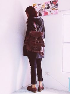Wine, burgundy leather backpack by Grafea www.grafea.co.uk