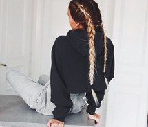 Inspiring image adorable, beauty, blonde, braid, braided, braids, brunette, cute, fashion, girl, girly, hair, hairstyle, long, long hair, nails, ombre, quality, sweat pants, tumblr, tumblr girl, tumblr quality #3124739 by patrisha - Resolution 640x596px - Find the image to your taste