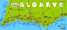 Algarve map