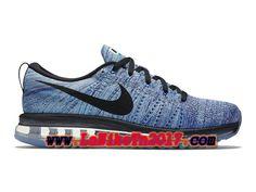 quality design bad83 9051f Homme Nike Flyknit Air Max Bleu Noir Chaussures de Running Pas Cher  620469-104 Løbesko