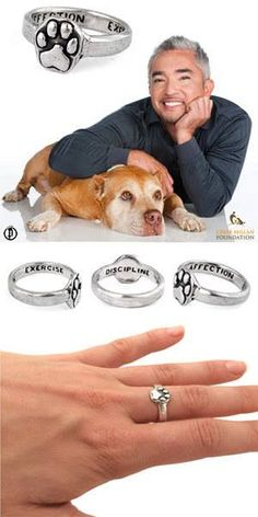 Cesar Millan Foundation is proud to bring you a Daddy Paw Print Ring! The handcrafted ring is available for a limited time with proceeds benefiting the Daddy Emergency Animal Rescue Fund, helping pet owners affected by hurricanes, fires, and other natural catastrophes. http://shout.lt/m3bC