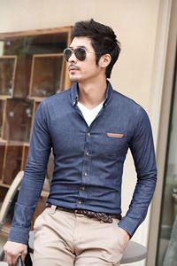 Men's chambray shirt
