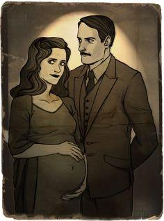 THE STARKS-Howard and Maria Stark. And Tony 8)