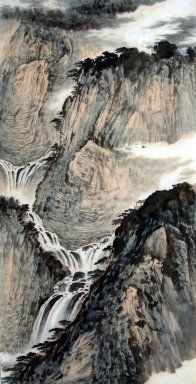chinese waterfalls | Chinese Painting: Mountain and waterfall - Chinese Painting CNAG220788 ...