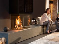 Our extensive Kalfire range of fireplaces offer a unique vision on the design, engineering, ease of use and performance . Fireplace Tv Wall, Modern Fireplace, Living Room With Fireplace, Fireplace Design, Living Room Decor, Living Rooms, Wood Burning Fires, Living Room Designs, Family Room