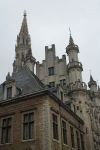 Roof tops by Grand Place, Brussels