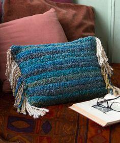 Southwest Pillow Free Crochet Pattern in Red Heart Yarns