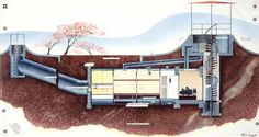 Container House - Underground Shipping Container Homes - Bing Images Who Else Wants Simple Step-By-Step Plans To Design And Build A Container Home From Scratch? Building A Container Home, Container Buildings, Container Architecture, Architecture Design, Sustainable Architecture, Underground Shelter, Underground Homes, Underground Living, Earthship