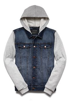 Mens Jean Jacket With Hood Wl0tun