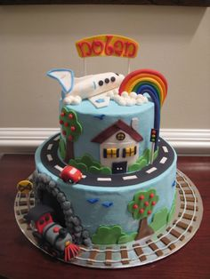 planes trains and automobiles 1st birthday | Planes, Trains & Automobiles Cake for Nolan's 1st Birthday photo IMG ...