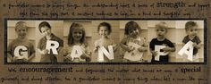 Creative Photo Keepsakes for Dads & Grandpas