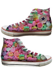 For the sweetest person in your life: Fill these spectacular converse with candy. #heartVICTORIA #Converse - Baggins Shoes | www.tourismvictoria.com
