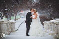 winter wedding, bride and groom, just married, winter wedding ideas, snowy wedding, winter wonderland #winterwedding #snow #brideandgroom