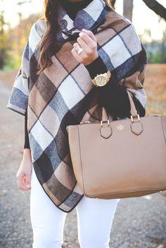 plaid poncho, sale items, fall style, fall fashion, fall poncho // grace wainwright from a southern drawl