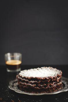 """Chocolate Waffle Brownies ~ via this blog, """"Oggi pane e salame, domani..."""""""